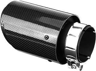 Auto Auspuffrohr Schalld/ämpfer Endspitze Endrohr Endrohr Hals mit Klemme f/ür 63mm 89mm