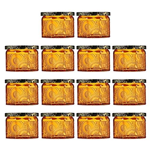 EXCEART Portavelas de Vidrio en Relieve Portavelas Votivas Velas de Lata DIY Tarro Tazas para Hacer Velas Más Cálidas para La Boda Oficina en Casa 14 Piezas