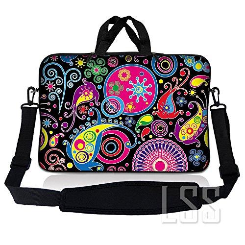 LSS 15.6 inch laptoptas draagtas met handvat en verstelbare schouderriem voor 14