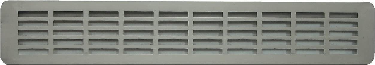 Rejilla de ventilación de aluminio anodizado para encimera de cocina