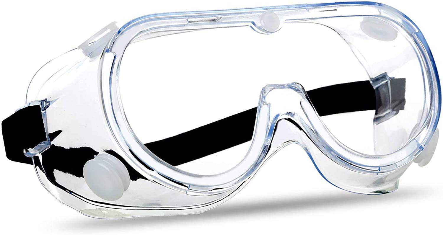 CUBBY Safety Goggles Protective Eye wear Clear Eye Protection Spectacles  Glasses for Lab Home Classroom Workplace Soft frame Goggle (1 Pcs) (1 PCS):  Amazon.in: Industrial & Scientific
