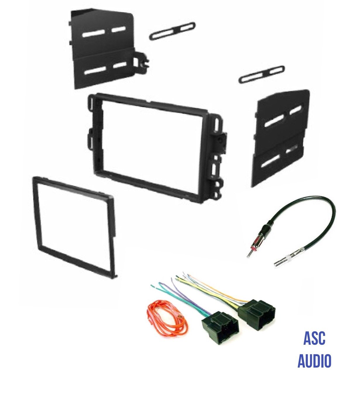 Amazon.com: ASC Car Stereo Dash Kit, Wire Harness, and Antenna Adapter  Combo to Add a Double Din Radio for some Buick Chevrolet GMC Pontiac  Saturn- most 2007-2011 Tahoe, Silverado, Suburban etc.- ListedAmazon.com