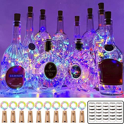 16 Pack Luz de Botella, Luz Corcho Led, Luces Botellas de Vino 2m 20 LED Guirnaldas Luminosas Decorativas Luces