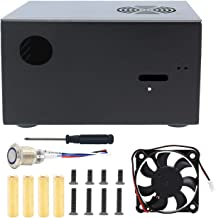 "Geekworm X825-C7 金属ケース(電源制御スイッチとファンが付き)、 X825 2.5"" SATA SSD/HDD ボード & Raspberry Pi 4 B & X708 UPS / X735ボードに適用"