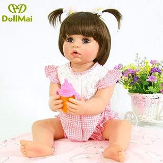 DollMai Reborn Baby Doll 22 inch 56CM Cute Realistic Full Silicone Vinyl Reborn Dolls Newborn Baby Girl -Nina