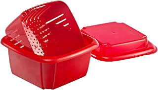 Hutzler 374RD Berry Keeper Box, 1 Quart, Red