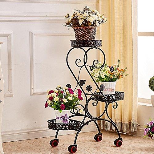 Support de fleur de fer/stand présentoir simple et élégant de fleur d'usine, salon de balcon d'intérieur