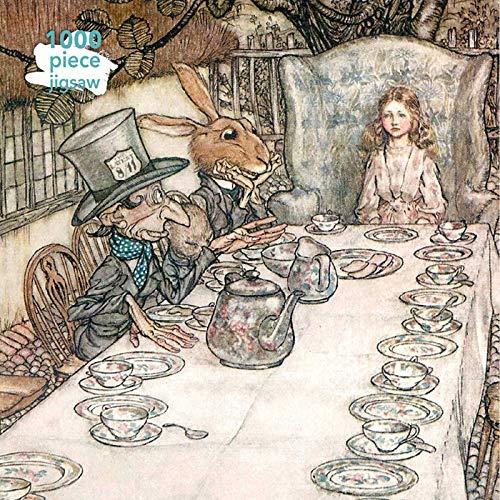 Adult Jigsaw Puzzle Arthur Rackham: Alice in Wonderland Tea Party: 1000-piece Jigsaw Puzzles