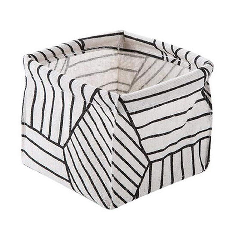 コットンとリネンのデスクトップ収納ボックスデスクステーショナリー収納バスケットドレッシングテーブル化粧品破片仕上げボックス SMMRB (色 : C)