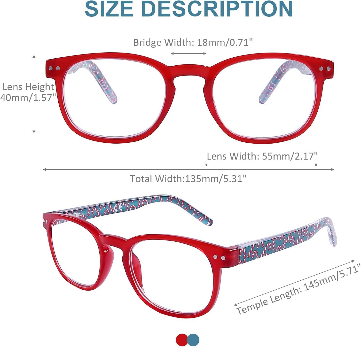 Buy Stylish Design Round Reading Glasses Blue Light Blocking, 20 ...