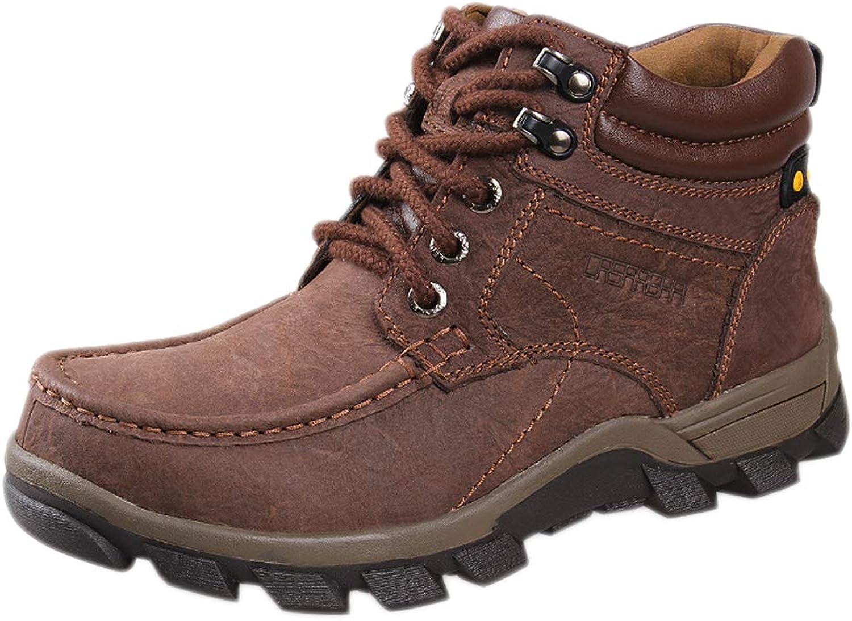 Nihiug Herren-Wanderschuhe für Mnner leichte Wanderschuhe Outdoor-Trekking Groe Outdoor-Schuhe aus Baumwolle für Mnner mit hoher Hilfe