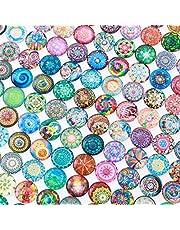 Healifty Mozaïektegels, rond, mozaïekglas, voor knutselwerk, 14 mm, gemengd, 200 stuks