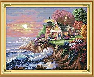 QIMEI-SHOP Kreuzstich,Stickerei Kreuzstich Kit Set Einschließlich Farbe Threads Baumwolle Tuch Nadel Zeichnung 35  28,5 cm