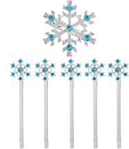 MJartoria Christmas Blue Rhinestone Snowflake Hair Clip Hairpin Elsa (Light Blue - snowflake)