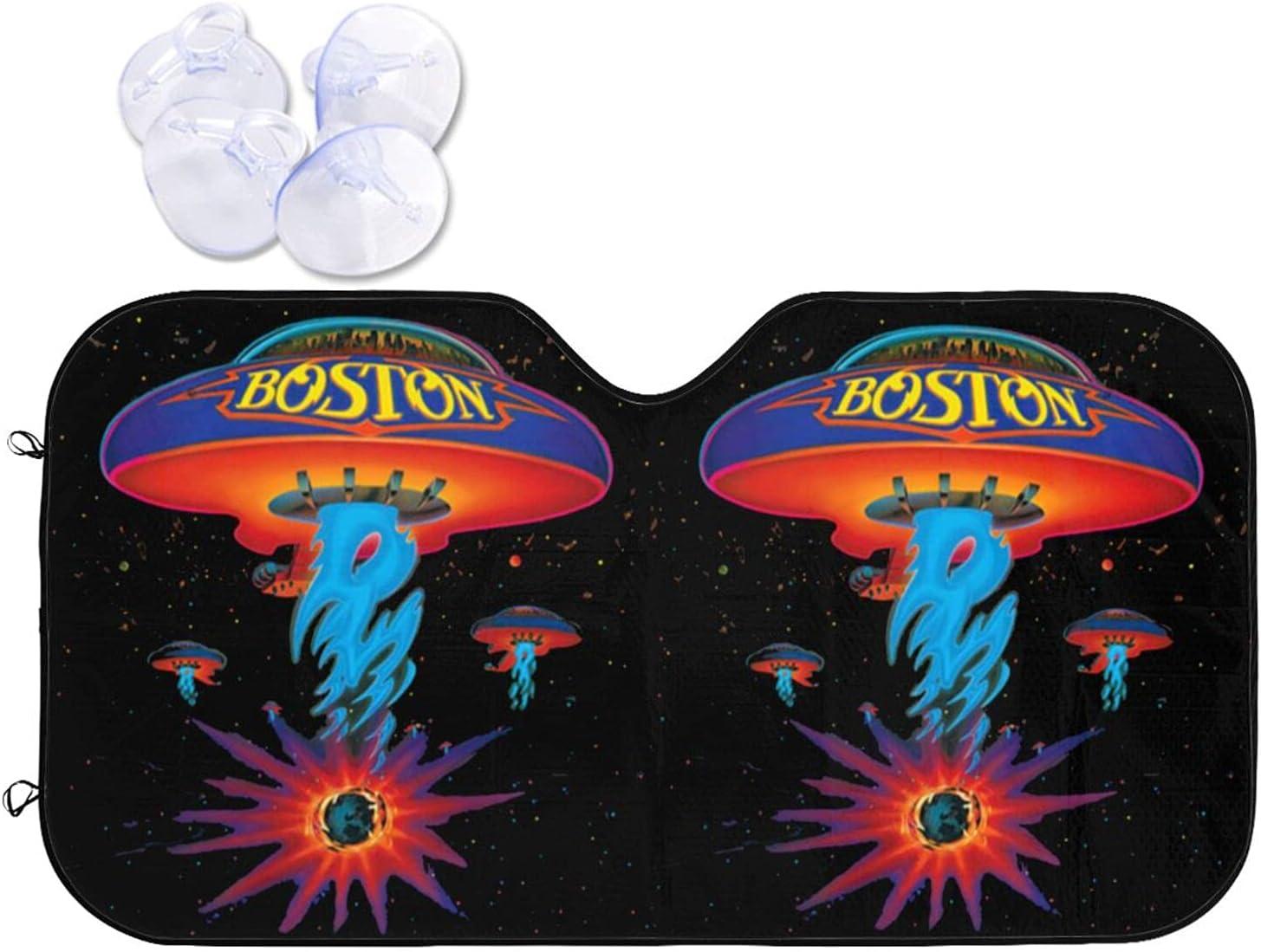 Boston Free Shipping New Rock Band Car Sunshade Heat and Prevention Windshield Sun Atlanta Mall
