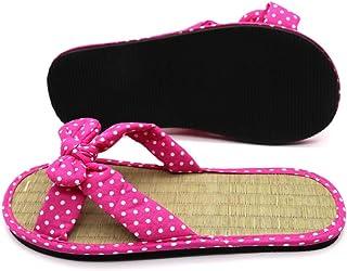 Airymap Pantoufle Confortable antid/érapante en en Bambou et rotin d/écontract/é Femmes Hommes Plates d/ét/é Sandales antid/érapantes Chaussons en rotin