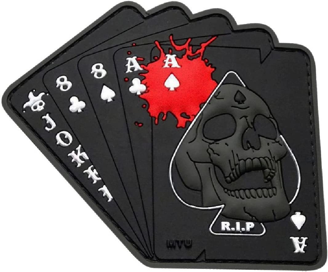 Miltacusa Ace of Spade Dead Mans 3D Rubber Hand Gothic Skull Tulsa Mall Max 71% OFF PVC