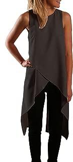 Women Chiffon Sleeveless Casual Fashion Asymmetric Dress