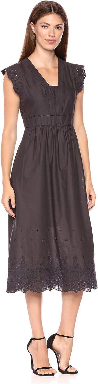 Anne Klein Women's Embroidered Cap Sleeve Fit 40% OFF Cheap Sale Alternative dealer Flare Dress