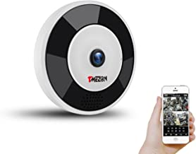 TMEZON WiFi Dome Camera VR Panoramic Security Camera with 360 Degree Fisheye Home Led Lights IP Camera Hidden Camera Home ...