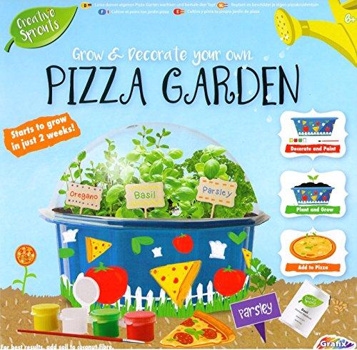 Creative Sprouts Wachsen & Dekoriere Dein Eigenes Pizza Kräuter Garten Pflanzen Set - Blau