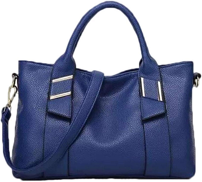 Huasen Evening Bag Women's Handbag, Fashion Shoulder Bag Messenger Bag Travel Handbag Party Handbag (color   bluee, Size   One Size)