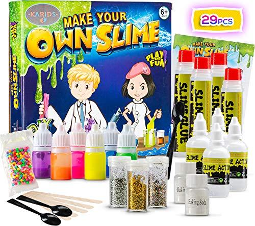 Karids Slime Maker Fai da Te per Bambine e Ragazzi | Kit DIY Melma Atossica Include Attivatore,Bicarbonato, Colla, Glitter, 6 Colori Diversi | Fabbric