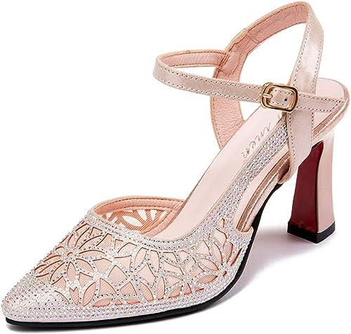 Sandales à Talons Talons Hauts à La Mode pour Les Les dames Chaussures à Talons Hauts Pointues D'été Personnalisées Creuses Stiletto à Talons Hauts De 6,3 Cm
