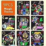 Juguetes artesanales DIY Dibujos animados Traslado Painturas artesanías para niños Artes y artesanías Juguetes para niños Creativo Educativo Aprendizaje Dibujo Juguetes sencillo ( Color : 9PCS Magic )