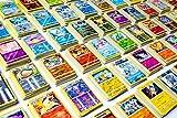 20 Pokemon Cards - No Duplicates - 2 Rare Pokemon Cards + 2 Holo Shiny Pokemon Cards Included - Special Pokemon TCG Packs -2 Custom Pokemon Packs - Blazing Card Sticker