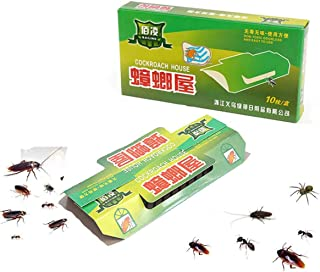 10Pcs Cockroach House Cockroach Trap Killer, Repellent Killing Bait Strong Sticky Catcher Traps Insect Pest Repeller Eco- ...