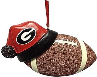University of Georgia Santa Hat Football Hanging Christmas Ornament