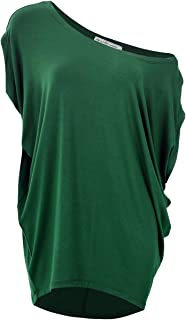 GLOSTORY Women's Casual Off Shoulder T Shirts Blouse and Short Sleeve Plus Size Tops