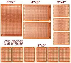LTKJ Universal 12pcs/lot Electric Printed Circuit Prototype PCB Board Breadboard Stripboard DIY Copper Plate Kit Test Single Sided