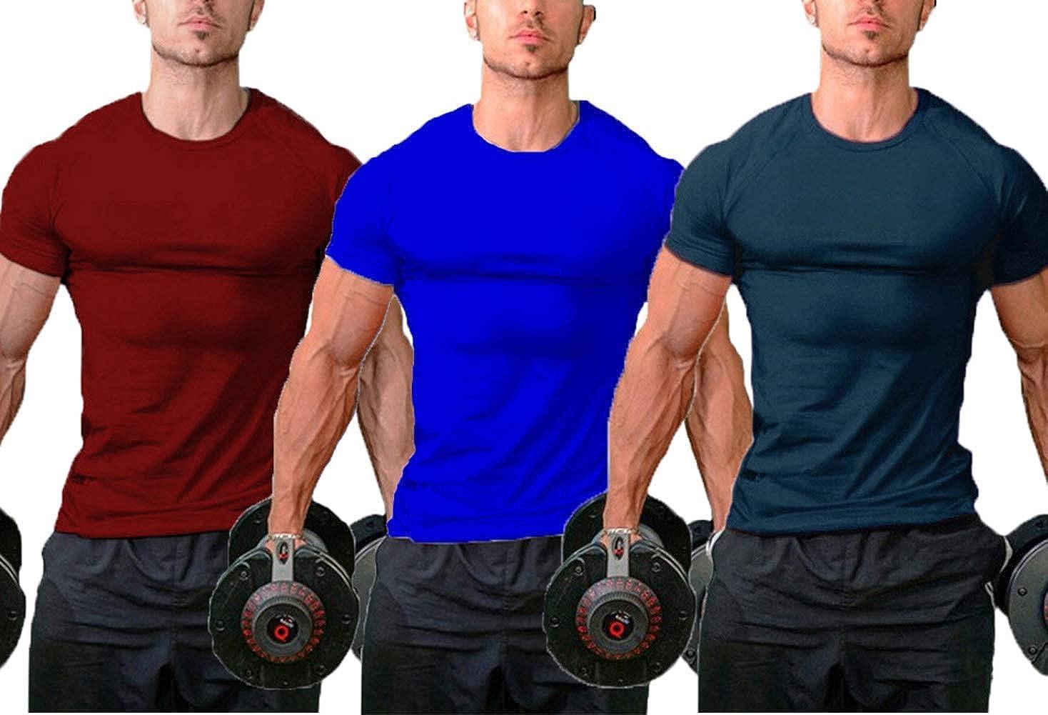 InleaderStyle Men Classic Blank Gym Slim 新作製品、世界最高品質人気! Bodybuilding 期間限定送料無料 Cotton Fit