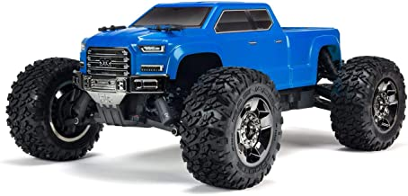 ARRMA 1/10 Big Rock Crew Cab 3S BLX Brushless 4WD RC Monster Truck RTR with 2.4GHz Radio (Battery Not Included), Blue (ARA102723)