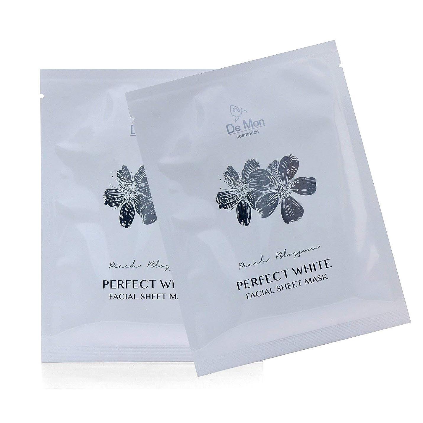 涙が出る熱スクランブルDeMon Perfect White Facial Sheet Mask 3x25ml/0.8oz並行輸入品