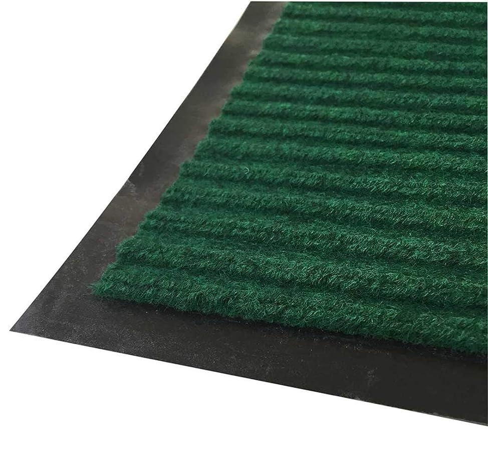 波これら申請者fuusui8 業務用 玄関マット 屋外 泥落とし 屋内 厨房 入口用滑り止め付き ドアマット 60×90cm (グリーン)