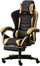 Office Chair E-Sports Chair,High Back Gaming Chair Adjustable Office Chair with Footrest Computer Chair with Headrest and ...