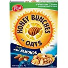Honey Bunches of Oats with Almonds, Heart Healthy, Low Fat, made with Whole Grain Cereal , 14.5 Ounce (Pack of 12)