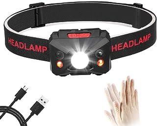 Eletorot LED ヘッドライト USB充電式 防水 軽量 災害対策 夜釣り 登山 作業灯 ヘッドランプ 実用点灯8時間