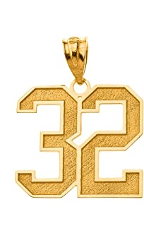 Sports Jersey 10k Yellow Gold Personalized Engraving Included with Your Lucky Number and Name