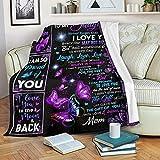 Mom to Daughter Blanket Gift - Never Forget That I Love Yo Best Gift for Birthday, Christmas Graduation Wedding Bonus Daughter (Arctic Fleece Blanket, 60x80 inch)