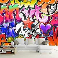 Djskhf パーソナライズされたカスタマイズ3Dカラフルな落書き壁画壁紙Ktvバークラブ背景壁紙アート壁紙ロール 280X200Cm