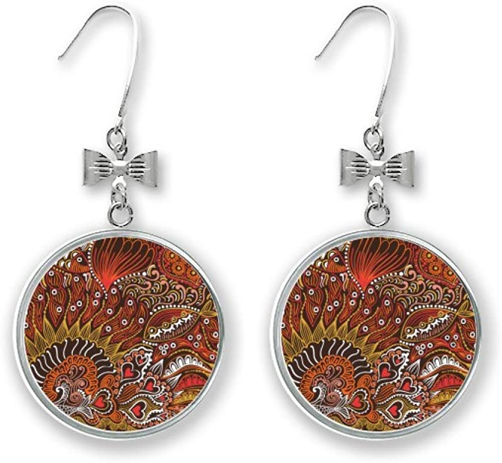 Trust Line Drawing Max 77% OFF Abstract Red Fishes Pierced Earrings Stud Bow Drop