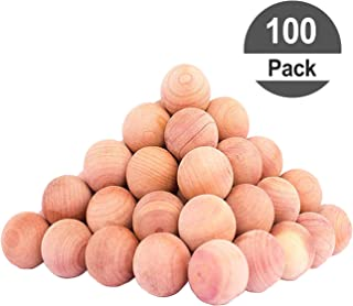 HomeDo 100Pack Cedar Balls for Clothes Storage, Cedar Closet Moth Protection with Cedar Fragrance, Cedar Blocks for Closets and Drawers, Very Cute Cedar Wood Chips (Cedar Balls-100pack)