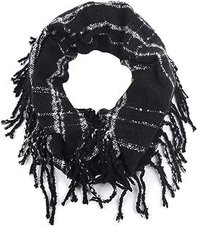 Cashmere Warm Plaid Print Infinity Scarf Women Pattern Autumn Winter Scarves
