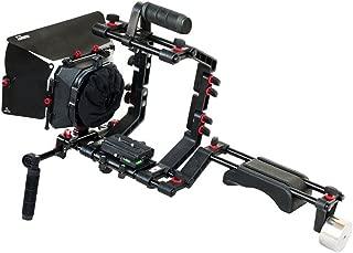 FILMCITY DSLR Camera Shoulder Support Rig Kit with Cage & Matte Box | DV HDV DSLR Video Camcorders Compatible | Free - Offset Z Bracket (FC-02)