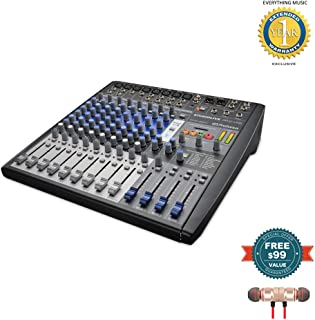 PreSonus StudioLive AR12 USB 14-Channel hybrid Performance and Recording Mixer includes Free Wireless Earbuds - Stereo Bluetooth In-ear and 1 Year Everything Music Extended Warranty
