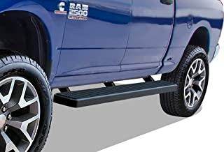 with 4 Full Size Doors Viksee 4in Black Running Boards for 09-18 Ram 1500//2500//3500 Crew Cab 2pcs Carbon Steel Nerf Bars Side Steps with Curved End Exclude Diesel
